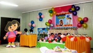 Theme with baloon